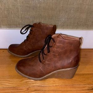 Dirty Laundry Wedge Booties